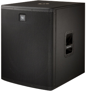 subwoofer elx118p vista laterale