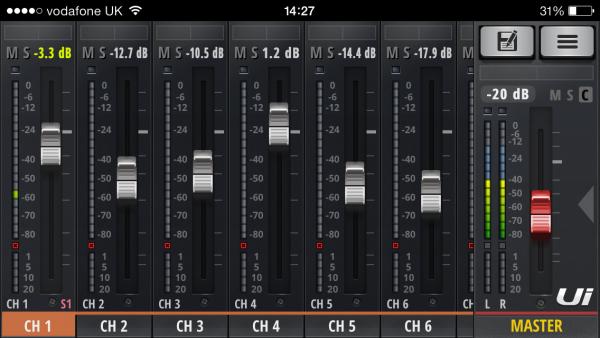 gestione remota del mixer audio digitale
